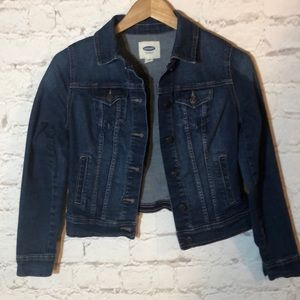 OLD NAVY CROPPED DENIM JEAN JACKET
